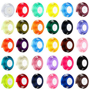 22-Metres-of-Satin-Ribbon-15mm-in-Multiple-Colours-sold-by-rolls