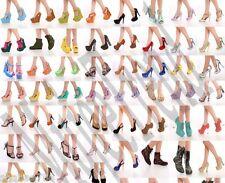 R1i 6 WHOLESALE LOT Women Shoes High Heels Wedge Pumps Platform sandals Size 7