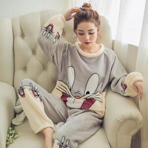 Hot Women Girl Warm Winter Flannel Coral Velvet Nightgown Sleepwear ... 9c0dfd6e5