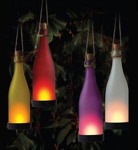12x Solar Glas Flaschen Led Beleuchtung Garten Leuchten Terrasse