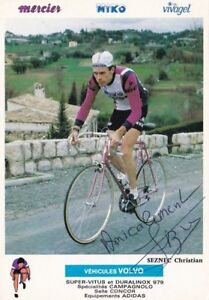 CYCLISME-carte-cycliste-CHRISTIAN-SEZNEC-equipe-MIKO-MERCIER-signee