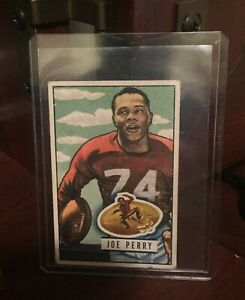 1951 Bowman Football Card #105 Joe Perry - VG-EX