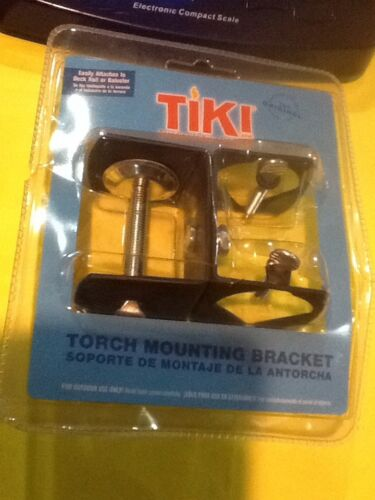 TIKI Torch Mounting Bracket Easily Attaches To Deck Rail Or Baluster NIP
