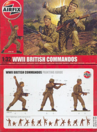 A02705 britische Soldaten 1:32 WWII British Commandos Airfix 02705