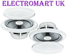 "MOISTURE RESISTANT FULL RANGE CEILING SPEAKERS 5"" 80W BATHROOM KITCHEN SHOWER"