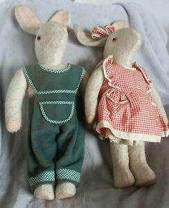 2 Pupazzi - conigli vintage