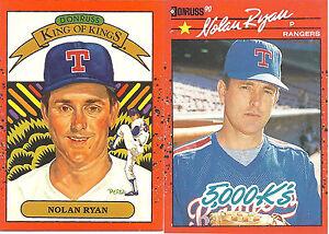 1990-Donruss-Nolan-Ryan-Error-Card-665-Correct-659-Card-Lot-of-Two