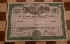 PENNSYLVANIA RAILROAD COMPANY SHARE CERTIFICATE - 10 May 1966 100 Shares