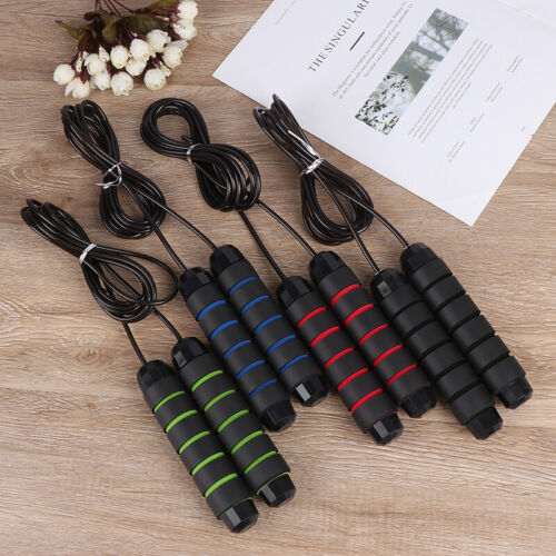 118 Inches Skipping Rope Steel Wire Adjustable Speed Jump Rope Workout Exerci X