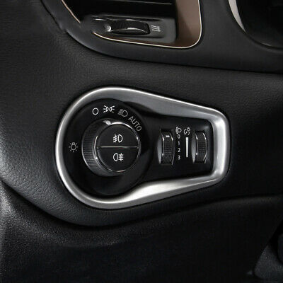 Jeep Renegade Interior >> For 2015 2020 Jeep Renegade Interior Dashboard Head Fog Light Switch Trim Cover Ebay