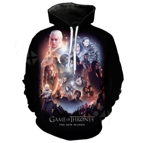 Game of Thrones 3D Print Hoodies New Men Women Casual  Pullover Sweatshirts Tops
