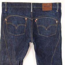 Mens Levis 501 Big E Selvedge Straight Regular Fit Blue Jeans (W35) W36 L30