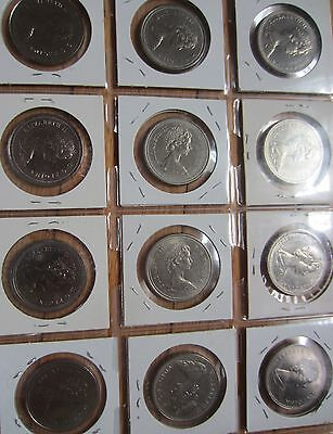 Complete Set of Canada Nickle Dollars Coins 1968-1986