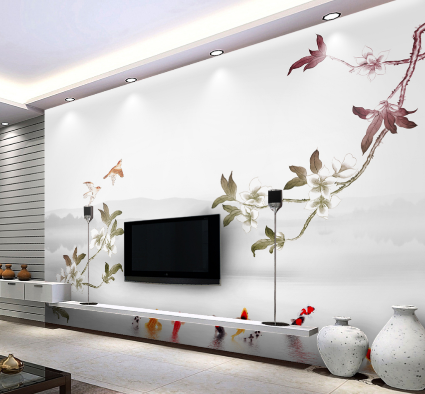 3D Flower Paint 466 Wallpaper Murals Wall Print Wallpaper Mural AJ WALL AU Lemon