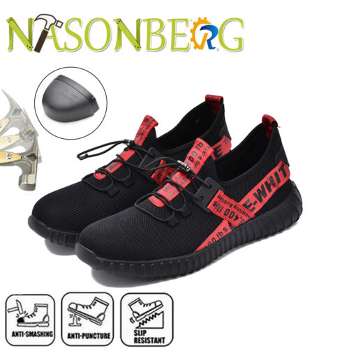 Womens Safety Work Shoes Lightweight Breathable Steel Toe Construction Sneakers