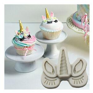 Silicone-Unicorn-Head-Horn-Cake-Fondant-Mold-Horse-Eye-Eyelash-Baking-DIY-Mould