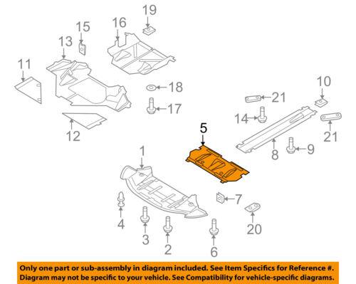 AUDI OEM 08-12 R8 Splash Shield Under Engine-Front-Center Cover 420825208A