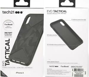 check out 76cbc 6e722 Details about New Original Genuine TECH21 Evo Tactical Black Case Cover for  iPhone X iPhone 10