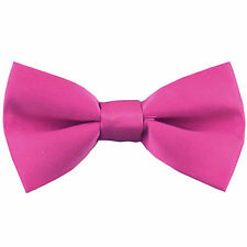 Boy's Straigt Cut Solid Pre-tied Bow tie Kid's Bowtie Wedding Party Prom