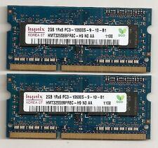 4GB 2GB X2 Kit Lenovo T400/T500/R400/R500/W500/W700 DDR3 Laptop RAM Memory