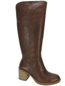 5c65bd04c94 Lucky Brand Women s Ritten Wide-Calf Tall Boots Whiskey Leather Size ...