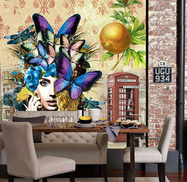 3D Butterfly, beauty 989 Wall Paper Print Wall Decal Deco Indoor Wall Murals
