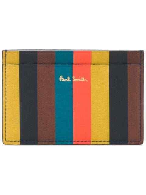 PAUL SMITH Bright Stripe artist multi stripe Credit Card Case Holder wallet 🌈
