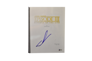 George Lucas Signed Signed Star Wars Episode 3 Revenge Of The Sith Script Bas Ebay