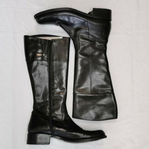 Sundance Black Leather Tall Equestrian Style Knee
