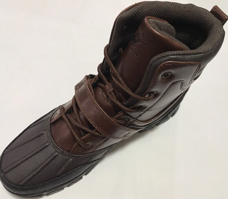 Mens Beverly Hills Polo Club Brown Lace Up Sneaker Boot High Top Strap on 9D