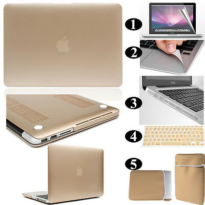 Gold /Champagne Frosted Matte Rubberized Hardshell Hard Case Cover Apple MacBook