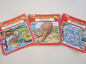 Magic School Bus Lot Of 3 Paperbacks Reading Level Grade 2 Ages 5 7