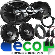 BMW Mini One Cooper JVC 3 Way 6x9 1300 Watts Front Door & Rear Side Car Speakers
