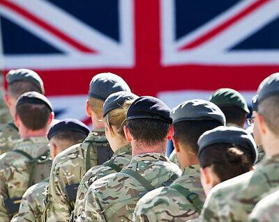 Charitable Britannique Troupes Commémoration Kandahar Base Aérienne 16x20 Argent Halide Collectibles Other Militaria