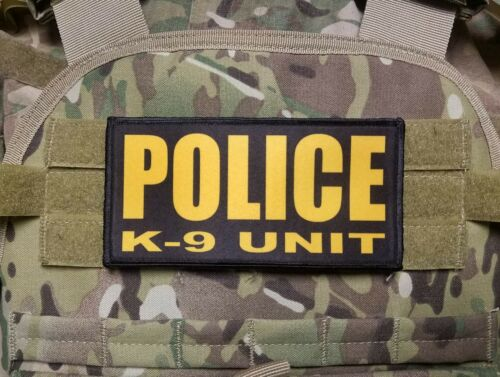 """3x8/"""" STATE TROOPER Black on OD Hook Back Placard Patch Badge for Plate Carrier"""