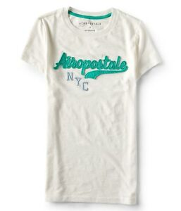 Aeropostale-Women-039-s-Tee-Shirt-embroidered-Aeropostale-NYC