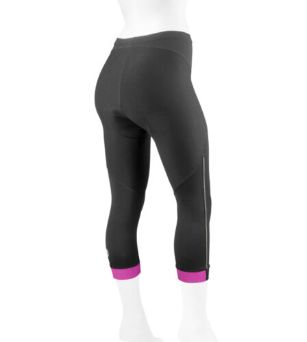 Women/'s Victoria Bike  Biking Capri Padded for Cycling  with Reflectives