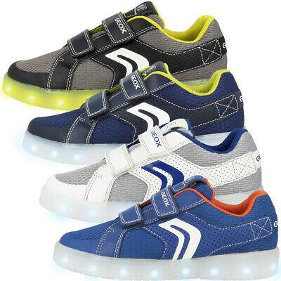 Geox J Vieni Odor Esempio A Gs Scarpe Led Bambini Tempo Libero Sneaker J925pa014buc-