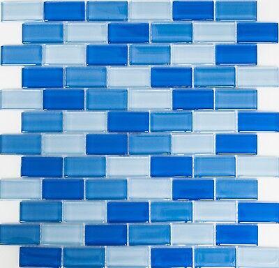 Glasmosaik hellgrün türkis mix WC Wand Küche Pool Dusche Art:WB76-0602|1 Matte