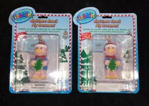 NEW-2-Ganz-WEBKINZ-Pet-Christmas-Snack-Pig-Ornament-SERIES-1-Online-CODE-unused