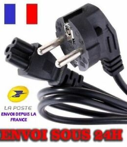 Cordon-Cable-Alimentation-Secteur-220V-Tripolaire-Trefle-NEUF-Longueur-1-10M
