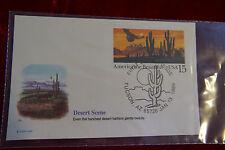 america the beautiful fleetwood fdc tucson az 1/13/1989 desert scene