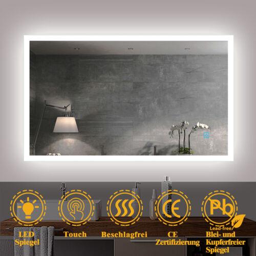 LED Badezimmerspiegel mit Beleuchtung 50-120 cm Touch Bechlagfrei Wandspiegel
