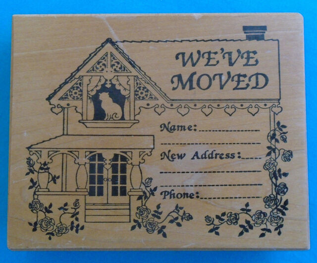 PSX Rubber Stamp Weve Moved Change Of House Address 3 4
