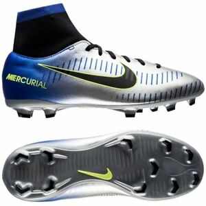 fb39dec8a Nike Mercurial Neymar NJR Victory VI FG 2018 DF Soccer Shoes Silver ...