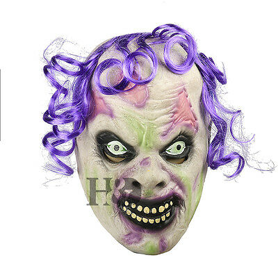 H&D Scary Latex Horror Clown Halloween Mask Masquerade Party Costumes Zoo Dress