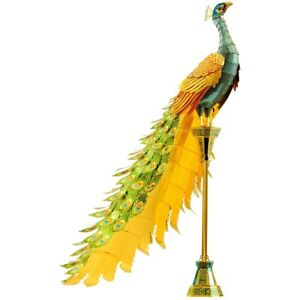 Fascinations-ICONX-PEACOCK-3D-Metal-Earth-Laser-Cut-Steel-Model-Puzzle-Kit