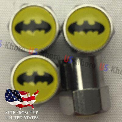 Joker Logo Valve Stem Caps Batman Emblem Valve Caps Chromed Roundel Tires Tyres