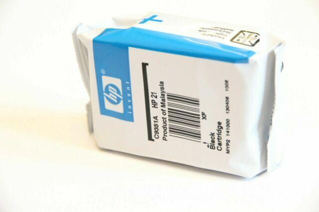 HP 21 Black Inc Cartridge Genuine Original C9351A OEM
