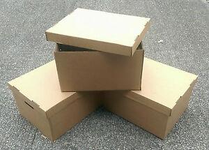 Favorit Groß Archiv Aufbewahrungsboxen Starkes Karton Deckel Kiste Griffe KZ85